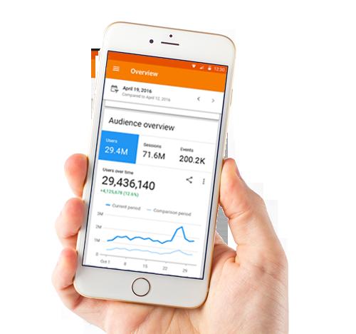 Google Analytics mobile app